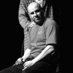"Udine, 21/03/2005 - Prove ""Garage 77"" con Teatro Incerto - Fabiano Fantini, Claudio Moretti, Elvio Scruzzi - Foto Luca d'Agostino/Phocus Agency © 2005"